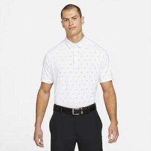 Мужская рубашка-поло с принтом для гольфа Dri-FIT Player - Белый Nike