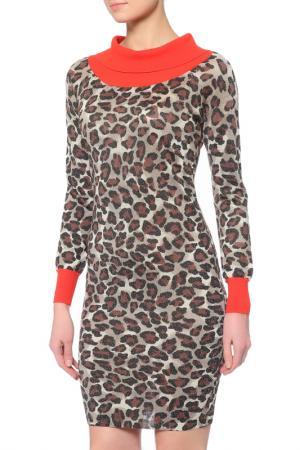 Платье Whos Who Who's. Цвет: леопардовый