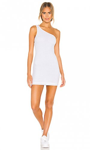 Платье с одним плечом peyton superdown. Цвет: белый