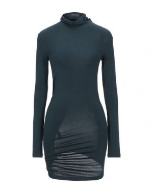 Короткое платье DONNA KARAN. Цвет: темно-зеленый