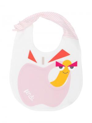 Для новорожденных девочек Fendi Kids. Цвет: белый