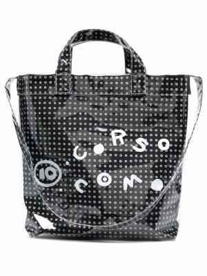Сумка-тоут с логотипом 10 CORSO COMO. Цвет: черный
