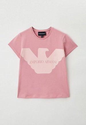 Футболка Emporio Armani. Цвет: розовый