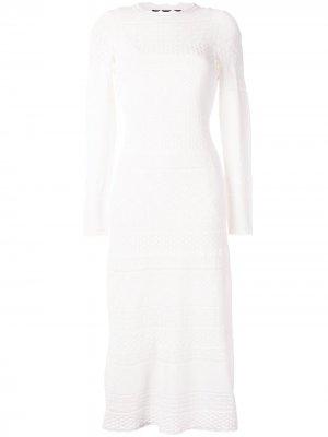 Кружевное платье миди Volta Alexis. Цвет: белый