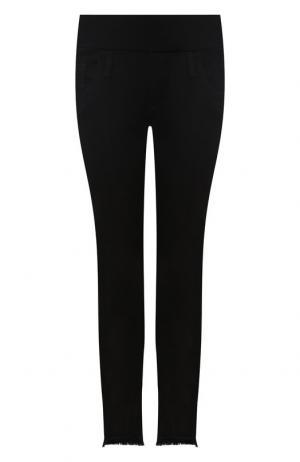 Укороченные джинсы с бахромой Pietro Brunelli. Цвет: чёрный