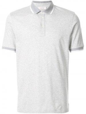 Классическая рубашка-поло Cerruti 1881. Цвет: серый