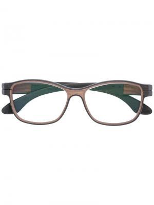 Очки в квадратной оправе Herrlicht. Цвет: коричневый