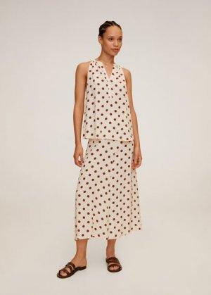 Миди-юбка с принтом - Bombay Mango. Цвет: экрю