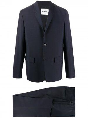 Костюм с однобортным пиджаком Jil Sander. Цвет: синий