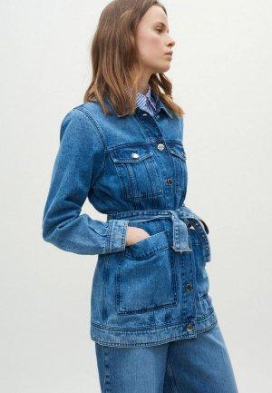 Куртка джинсовая Claudie Pierlot. Цвет: синий