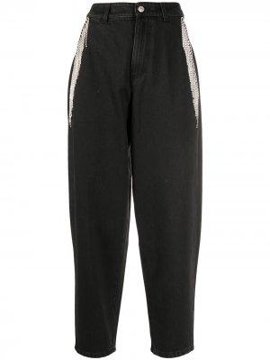 Декорированные джинсы широкого кроя Chiara Ferragni. Цвет: черный