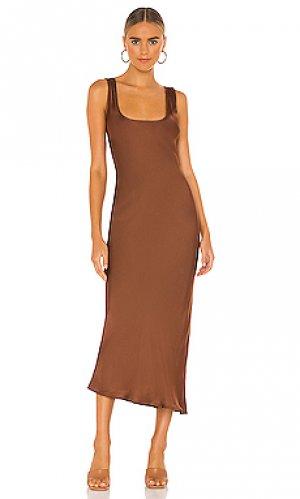 Платье-комбинация simple Cali Dreaming. Цвет: шоколадный