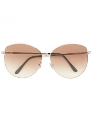 Солнцезащитные очки в оправе кошачий глаз Spektre. Цвет: коричневый