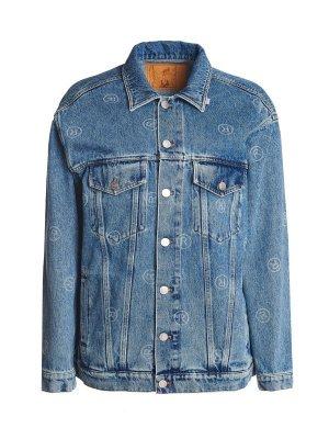 Джинсовая куртка Martine Rose. Цвет: синий