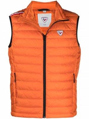 Стеганый жилет Seasonal на молнии Rossignol. Цвет: оранжевый