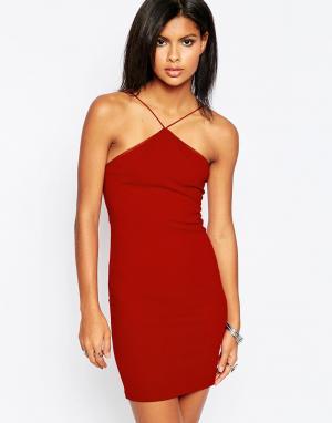 Платье-майка Glamorous. Цвет: красно-бурый