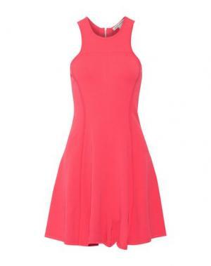 Короткое платье AUTUMN CASHMERE. Цвет: коралловый