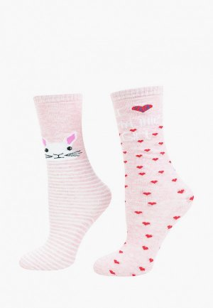 Гольфы Соль&Перец. Цвет: розовый