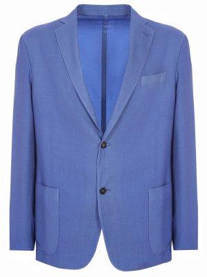 Пиджак из кашемира Colombo. Цвет: синий