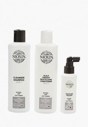 Набор для ухода за волосами Nioxin система 1 300+300+100 мл. Цвет: прозрачный