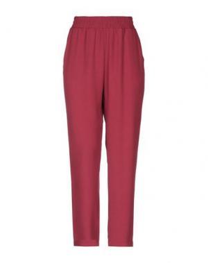 Повседневные брюки I'M ISOLA MARRAS. Цвет: красно-коричневый