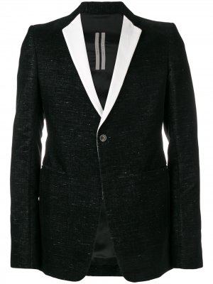 Пиджак-смокинг Extreme Rick Owens. Цвет: черный