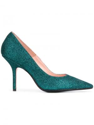 Glitter stiletto pumps Anna F.. Цвет: синий