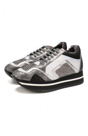 Кожаные кроссовки Baldan. Цвет: белый