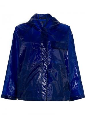 Полупрозрачная водонепроницаемая куртка Aspesi. Цвет: синий