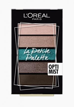 Палетка для глаз LOreal Paris L'Oreal La Petite Palette, оттенок 03, Смелость. Цвет: разноцветный