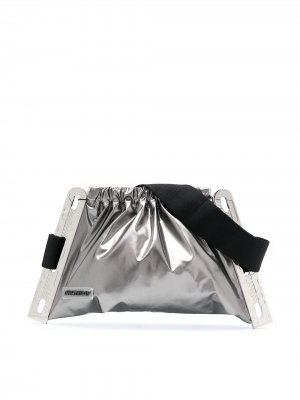 Поясная сумка с кулиской MISBHV. Цвет: серый
