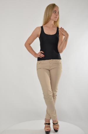 Брюки Gaudi Jeans. Цвет: бежевый