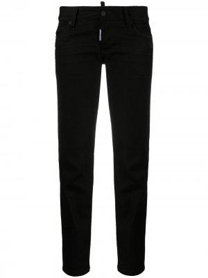 Укороченные джинсы скинни Dsquared2. Цвет: черный