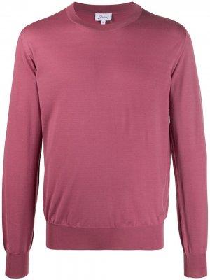 Джемпер тонкой вязки Brioni. Цвет: розовый