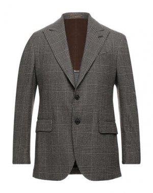 Пиджак GABRIELE PASINI. Цвет: темно-коричневый