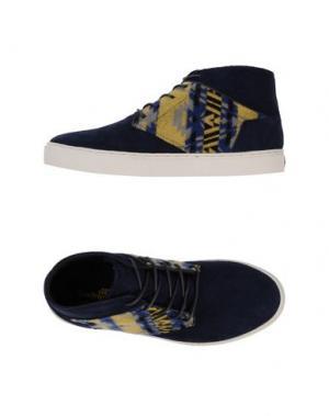 Высокие кеды и кроссовки BOXFRESH. Цвет: темно-синий