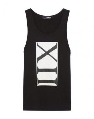 Майка DKNY. Цвет: черный