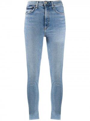 Узкие джинсы Nina с завышенной талией Rag & Bone. Цвет: синий