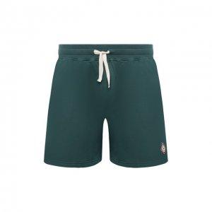 Хлопковые шорты Casablanca. Цвет: зелёный