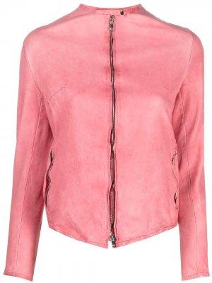 Куртка на молнии Salvatore Santoro. Цвет: розовый