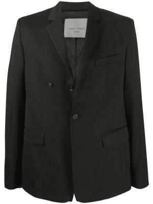 Однобортный пиджак Frankie Morello. Цвет: черный