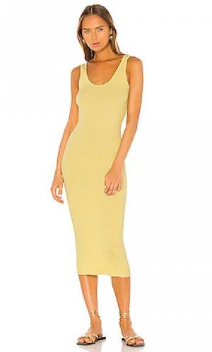 Платье-майка Enza Costa. Цвет: желтый
