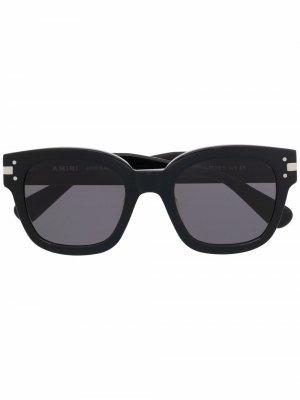 Солнцезащитные очки в массивной оправе AMIRI. Цвет: черный