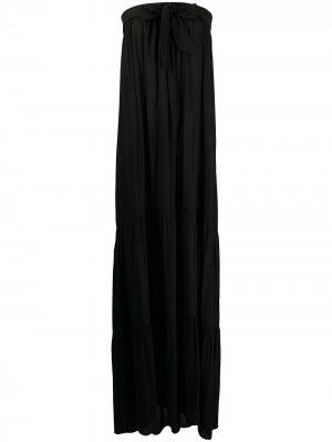 Длинное пляжное платье без бретелей Marlies Dekkers. Цвет: черный
