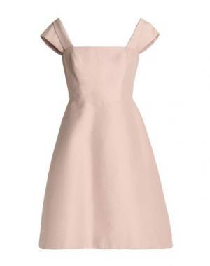 Короткое платье HALSTON. Цвет: светло-розовый