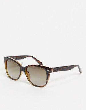 Солнцезащитные очки в черепаховой оправе 3073/S-Коричневый цвет Fossil