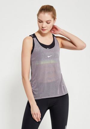 Майка спортивная Nike Womens Dry Training Tank. Цвет: серый