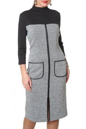 Платье Argent. Цвет: серый меланж