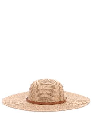 Шляпа пляжная Jemima MELISSA ODABASH. Цвет: бежевый