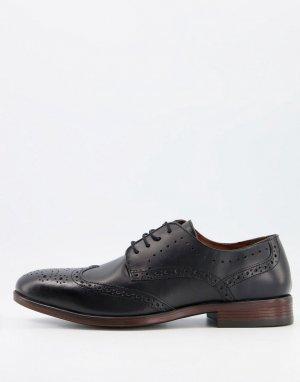 Строгие броги черного цвета -Черный цвет Burton Menswear